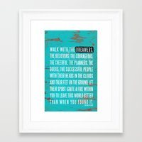 Walk with the Dreamers Framed Art Print