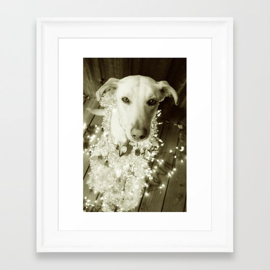 It's Beginning to Look a Lot Like Christmas B&W Framed Art Print