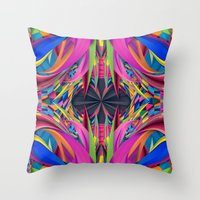 Psychedelic Connection Throw Pillow