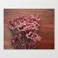 Vintage Purple Flowers Canvas Print