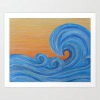 Sea Ya Later Surf Wave A… Art Print