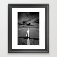The Long Road Framed Art Print