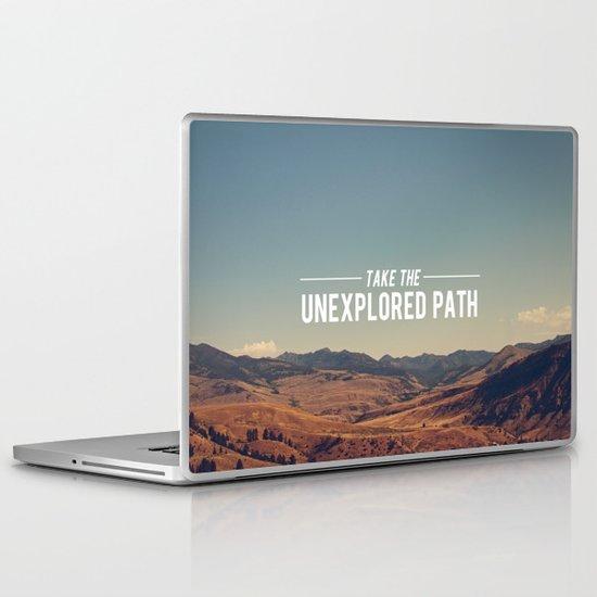 Take The Unexplored Path Laptop & iPad Skin