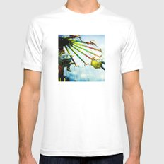 County Fair White Mens Fitted Tee SMALL