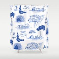 Pop Porcelain: Far Far Away Shower Curtain