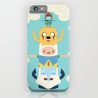 iPhone Cases featuring Adventure Totem by Daniel Mackey