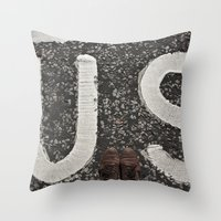 B-US-ES Throw Pillow