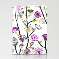 Stationery Card featuring Spring Flowers by Pink Pagoda Studio / Barbara Perrine Chu