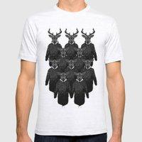 Chorus Of Deer Mens Fitted Tee Ash Grey SMALL