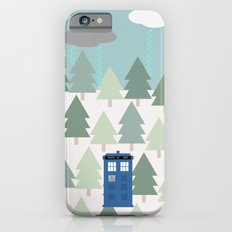 TARDIS lands in the Pacific Northwest Pine Tree Forest - Oregon, Washington, Portland, PDX, Seattle iPhone 6s Slim Case