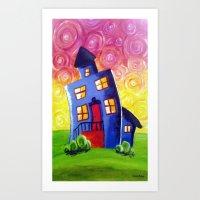 Happy House Art Print