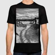 Beach Path Mens Fitted Tee Black SMALL