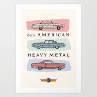 Motor Style Inc.: 60s Am… Art Print