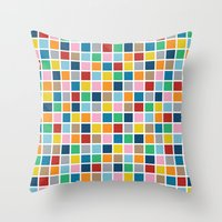 Colour Block Outline Throw Pillow
