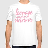 Teenage Daughter Survivo… Mens Fitted Tee White SMALL