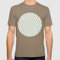 Optical Game Mint Green Mens Fitted Tee Tri-Coffee SMALL