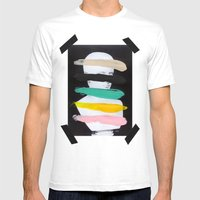Untitled (Finger Paint 1) Mens Fitted Tee White SMALL
