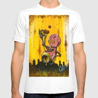 A Pink Robot For Akira Mens Fitted Tee White SMALL