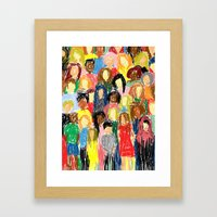 People, 2013. Framed Art Print