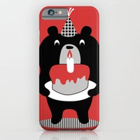 iPhone & iPod Case featuring Cake Bear by Hotdog N' Bun
