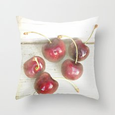 Cherry Lane Throw Pillow