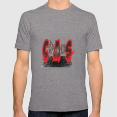 Chaos Mens Fitted Tee Tri-Grey SMALL