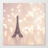 Left my heart in paris Canvas Print