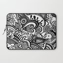 Hearty Arty Doodle Laptop Sleeve