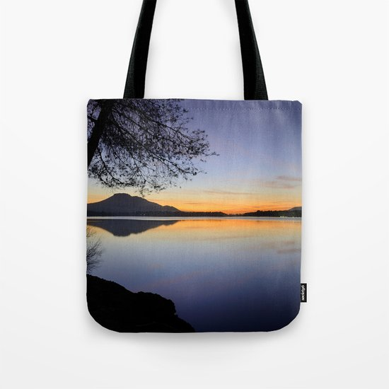 Peace at the lake Tote Bag