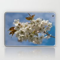 White Cherry Blossom Laptop & iPad Skin