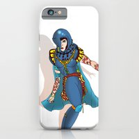 iPhone & iPod Case featuring Blue Science Fiction Warrior by Grant Wilson