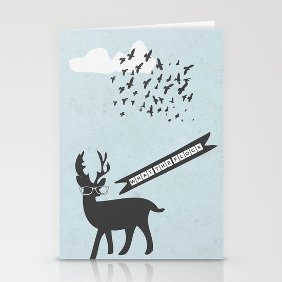 {What the flock} Stationery Card