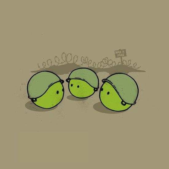 War & Peas Art Print