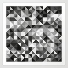 pillow pattern bw #2 Art Print