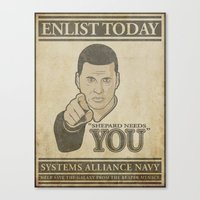 Shepard Needs You Canvas Print