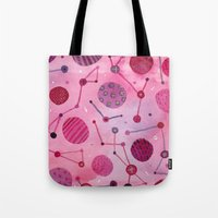 Bubbles And Stars - Pink Tote Bag