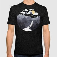 Roundscape II Mens Fitted Tee Tri-Black SMALL