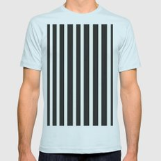 Stripe it! Mens Fitted Tee Light Blue SMALL