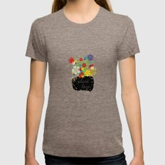 Plant Love! Womens Fitted Tee Tri-Coffee SMALL