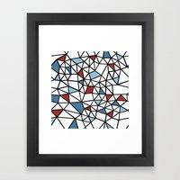 Segment Red And Blue Framed Art Print