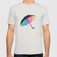 umbrella Mens Fitted Tee Silver SMALL