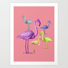 flamingo party-pink Art Print