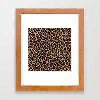 African Leopard Glamour Framed Art Print
