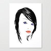minimal girl 1 Canvas Print