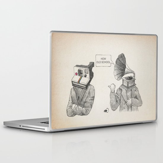 how old school Laptop & iPad Skin