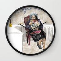 L'élégance du hérisson (Muriel Barbery)- COVERS OF BOOKS THAT NOBODY ASKED ME TO ILLUSTRATE N.1 Wall Clock