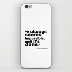 Impossible is nothing! iPhone & iPod Skin