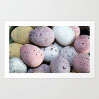 Eggs! Art Print