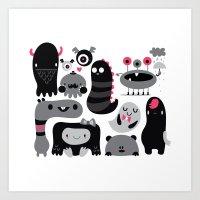 Monstruos Art Print