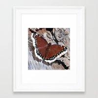 Cloak Of Mourning Butter… Framed Art Print